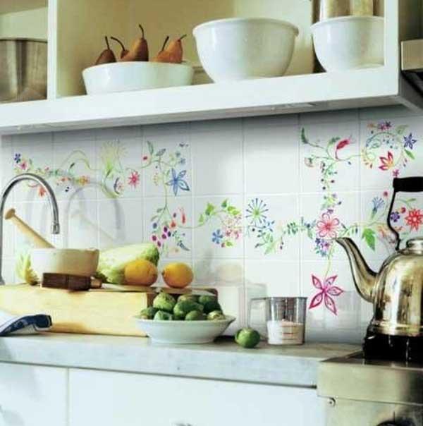 نقاشی روی کاشی و سرامیک آشپزخانه
