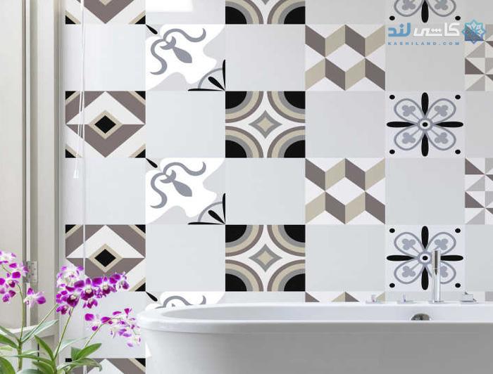ترکیب کاغذ دیواری با سرامیک